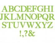 Troquel BIGZ Alfabeto completo serif essentials by EL Smith