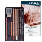 Caja lápices dibujo Lyra Sketching set