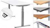 Mesa de trabajo E-Table Rocada con regulación en altura eléctrica mediante mando remoto