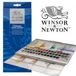 Winsor and Newton Caja acuarelas Cotman 45 medios godets