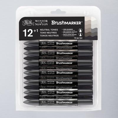 Brushmarker Winsor&Newton Set 12 + 1 Grises