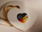 Lienzo con forma de corazón 20x20 cm