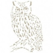 stencil Buho 12x12 cm 0000900