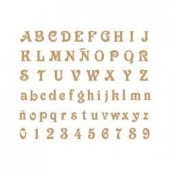 Stencil Letras 20x30 cm 1046