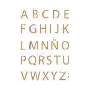 Stencil abecedario 20x30 cm 2403
