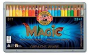 KOH-I-NOOr Magic 3408 Lápices triángulares Multicolor 24 colores