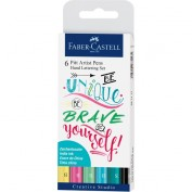 Faber Castell: Set 6 rotuladores para lettering