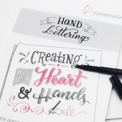 Bloc lettering A4 Hahnemühle