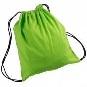 Bolsa macuto algodón con asas verde lima