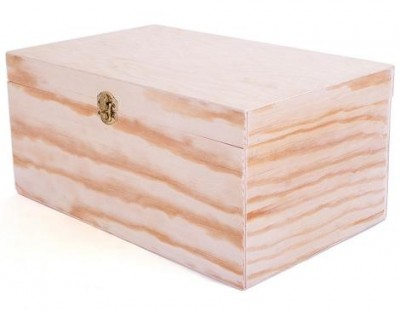 Caja de madera de pino 32x20x15 cm