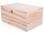 Caja de madera de pino 24x13x10 cm