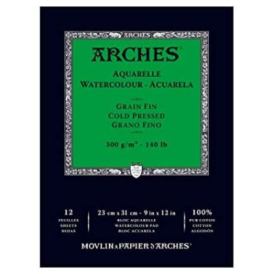 Arches Bloc Acuarela A4 12 hojas 300 gr