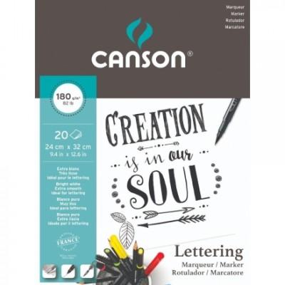 Bloc Lettering Canson A4
