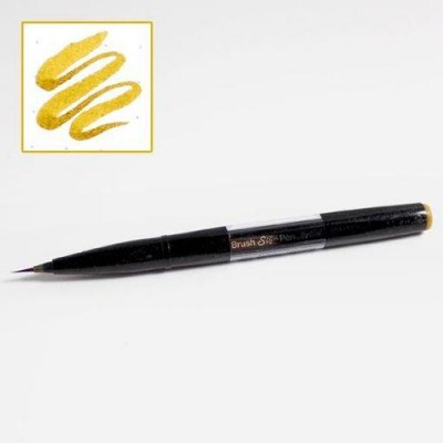 Pentel Sign Pen Brush Artist Amarillo Ocre