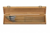 Caja de madera con 6 pinceles para óleo Clasico Escoda