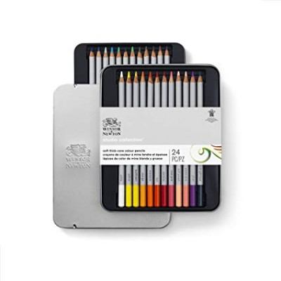Winsor&Newton Caja 24 lápices de colores Studio Collection