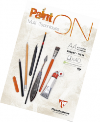 Paint On 96537C Multi Técnicas Clairefontaine Bloc A4