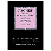 Arches Acuarela Bloc A4 Satinado 185 gr