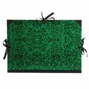 Carpeta dibujo con cintas Jaspeada verde 61x81 cm