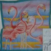 Pañuelo seda pre dibujado Flamingo SGS 314