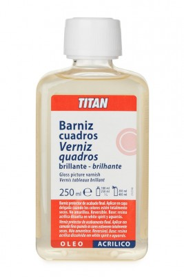 Barniz cuadros brillante Titan 250 ml