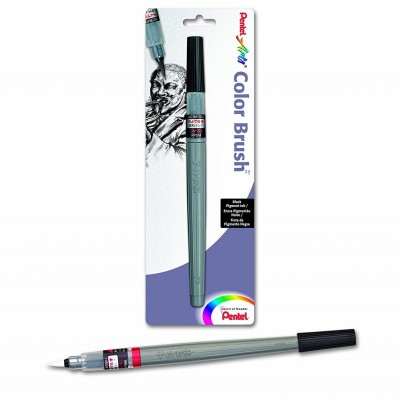 Pentel Arts Colour Brush Pigment Negro XGFP-101X