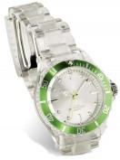 Reloj pulsera deportivo transparente Verde vi1817