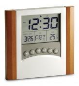 Reloj termómetro combinado madera vi1357