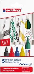 Edding 4500 Marcador Textil Caja 5 colores - 000