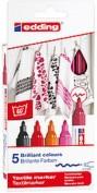 Edding 4500 Marcador Textil Caja 5 colores - 999