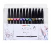 Pentel Sing Pen Artist Estuche 12 rotuladores SESF30C-12