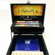 Sennelier Caja Acuarelas de madera 24 colores N131622