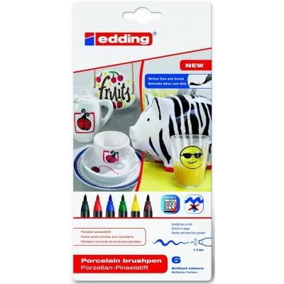 Rotuladores para Ceramica Edding Caja 6 colores Col 000