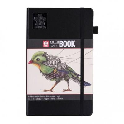 SAKURA Cuaderno/sketchbook 13x21 cm 140 GR Hojas blanco crema