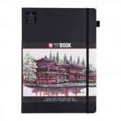 SAKURA Cuaderno/sketchbook 21x29,7 cm 140 gr Papel negro