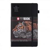 SAKURA Cuaderno/sketchbook 13x21 cm 140 GR Papel negro