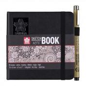 SAKURA Cuaderno/sketchbook 12x12 cm papel blanco crema 140 g