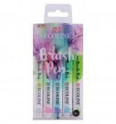 Set Ecoline Brush Pen 5 colores pastel