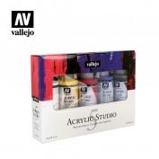Acrilico Studio Vallejo Estuche 5x200 ml