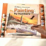 Pintar con números Molino de viento por el río