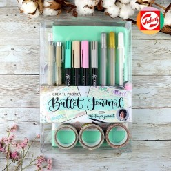 Set Bullet Journal Talens Azul Pastel
