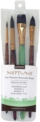 Princeton Neptune Set 4 pinceles para acuarela