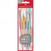 Faber Castell Juego 4 Pinceles color pastel 481620