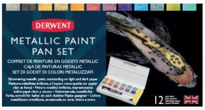 Derwent Caja de pinturas acuarela metálicas