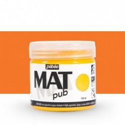 Pintura acrílica Mat Pub Pébéo Naranja vivo 04