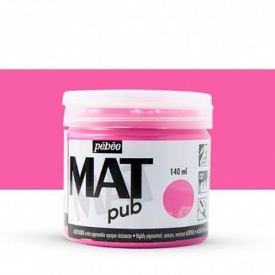 Pintura acrílica Mat Pub Pébéo Rosa tirio 08