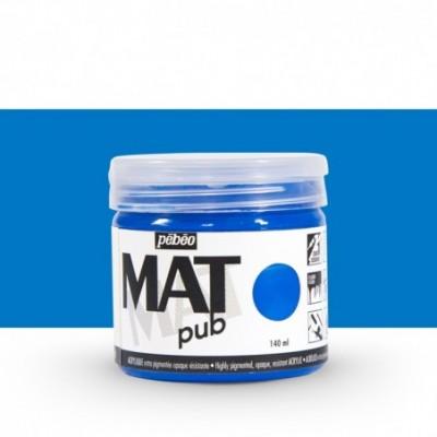 Pintura acrílica Mat Pub Pébéo Azul Cian 012