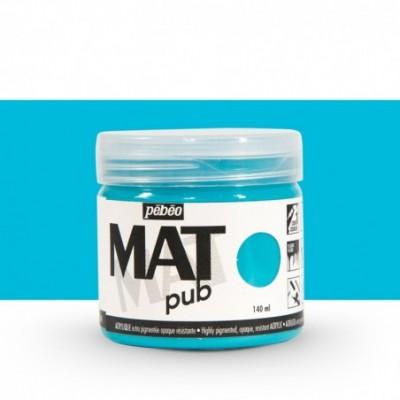 Pintura acrílica Mat Pub Pébéo Azul turquesa 013