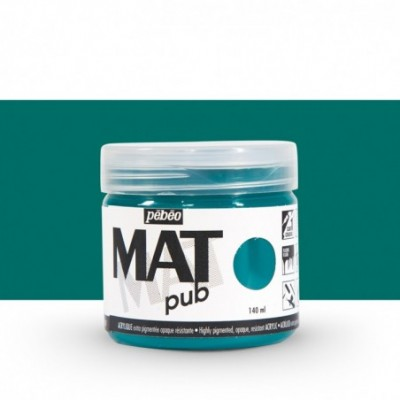 Pintura acrílica Mat Pub Pébéo Verde pato 014