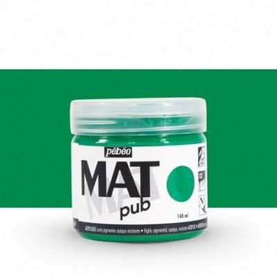 Pintura acrílica Mat Pub Pébéo Verde permanente 16